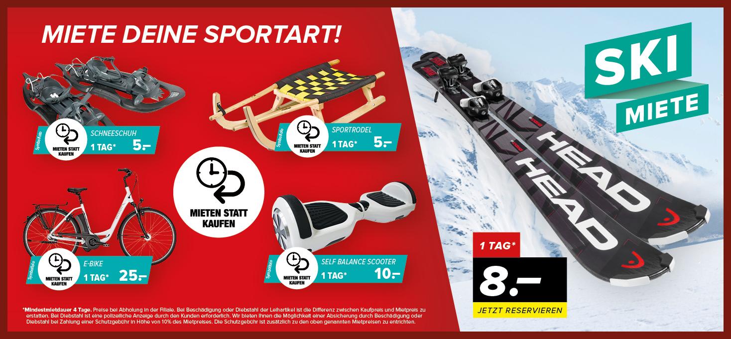 Du wolltest immer schon einmal einen flotten Alpinski fahren  Oder sehnst  du dich nach einem Fitnessgerät für Zuhause  Bei uns kannst du Sportgeräte  jetzt ... 95b40e40e3
