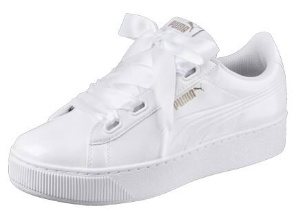 PUMA Sneaker Vikky Platform Ribbon P weiß : Sportbekleidung