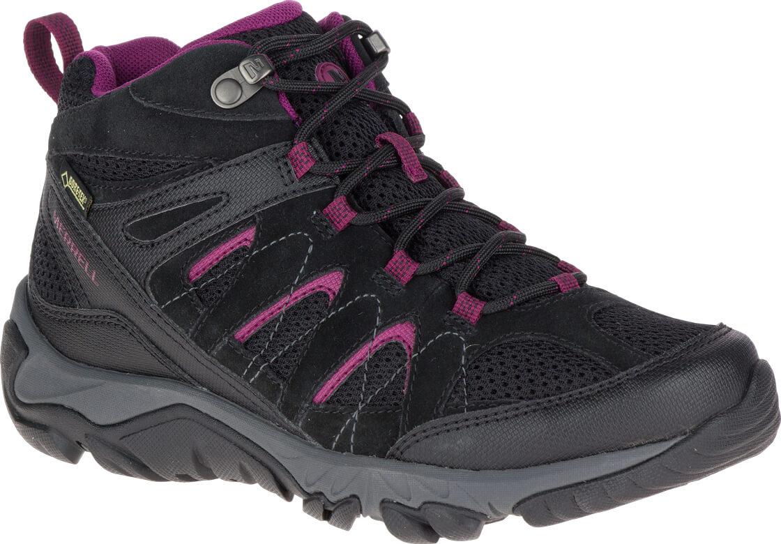 Damen Merrell Hiking Schuhe Outmost Ventilator Wandern Sneaker Schwarz